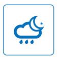 Cloud rain and moon icon vector image vector image