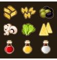 Italian food icon set vector image vector image