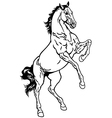 horse outline vector image