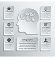 Gear head infographic vector image