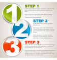 One two three - progress background with numbers vector image vector image