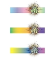 Floral grunge banners vector image