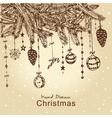 christmas fur tree vector image vector image