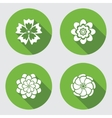 Flower icons set Chamomile daisy chrysanthemum vector image
