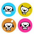 cute dog icons vector image vector image