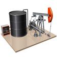 a pumpjack with metal barrel vector image