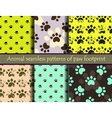 Seamless pattern set with cat or dog vector image