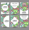 abstract brochures in doodle styledesign vector image