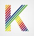 Alphabet Letter K vector image