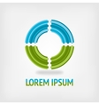 circle logo design template in blue and green vector image