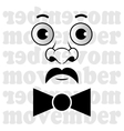 Movember - the man with mustache and bow tie vector image