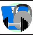 sport app icon vector image