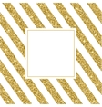 Gold glitter and bright sand white background vector image