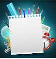 Back to School Background or Card vector image