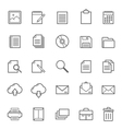 Set of Outline stroke document icon vector image