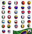 soccer ball Football with flag vector image
