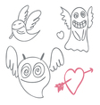 Amusing ghosts vector image