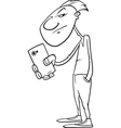 shooting with smartphone coloring page vector image vector image