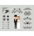 Wedding invitation design elements vector image