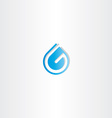 Drop of water letter g logo vector image