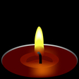 candle composition vector image