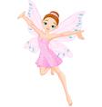 pink fairy in flight vector image