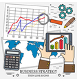 Concepts for business analysis and planning consul vector image