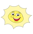 Smiling sun 2 vector image