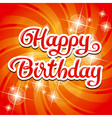 Birthday card inscription Vector Image