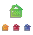 Family sign  Colorfull applique icons vector image