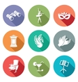 Art theater ballet opera Icons Set vector image