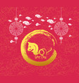 oriental chinese new year dog background year of vector image