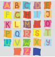 Scrapbook letters vector image