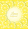 slices of lemon background vector image