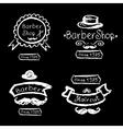 Set of vintage barber shop logo labels prints vector image