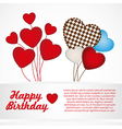 Heartshaped balloons with pattern of points isolat vector image