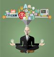 old Business meditation to create idea vector image