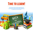 Back to school border vector image