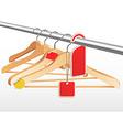 wooden hangers vector image vector image