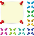 sticky note with red pushpin vector image vector image