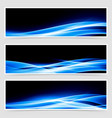 Abstract blue speed light line headers vector image