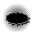 black comic speech bubble vector image