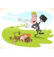 cartoon race vector image