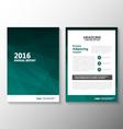 Green annual report Leaflet Brochure set vector image