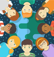 Kids of the World Square Concept vector image