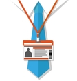 Man in shirt with a tie and badge vector image