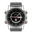Mens hand watch icon vector image