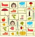 pattern of autumn themed objects vector image