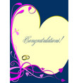 wedding or valentines day greeting card vector image