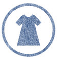 woman dress rounded fabric textured icon vector image